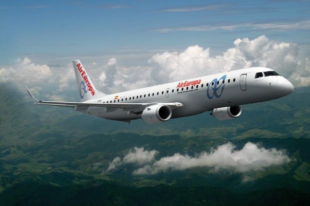 Embraer E195, avión fabricado en Brasil con el que Air Europa cubre gran parte de sus rutas de corto radio