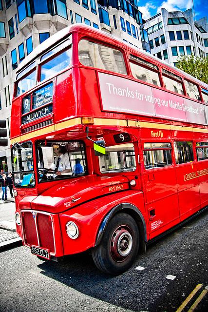 Autobús típico de Londres