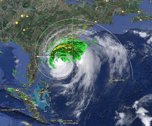 Huracán Irene, Halconviajes.com, mapa atmosférico